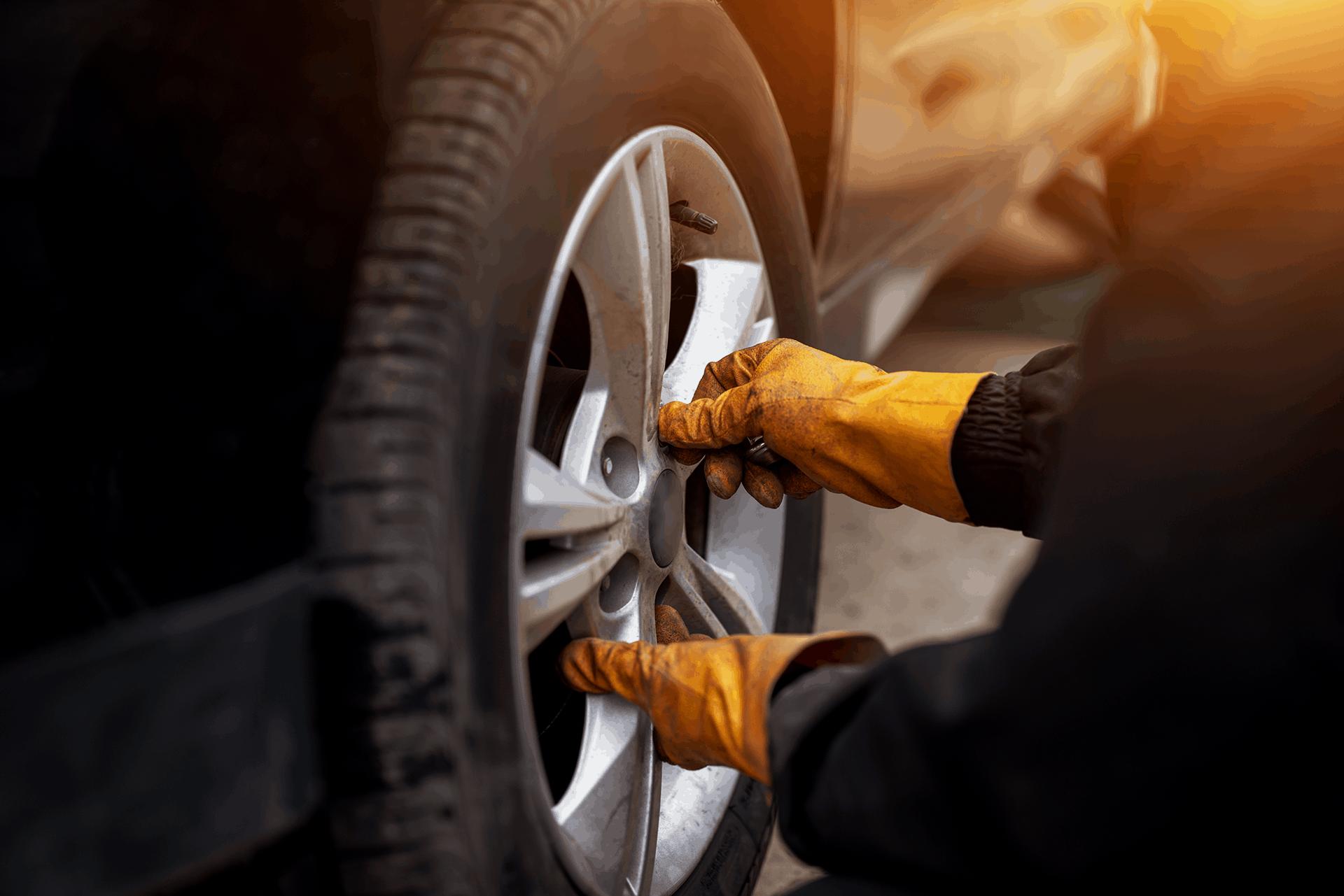 Tyre fitting at John Delany Motors