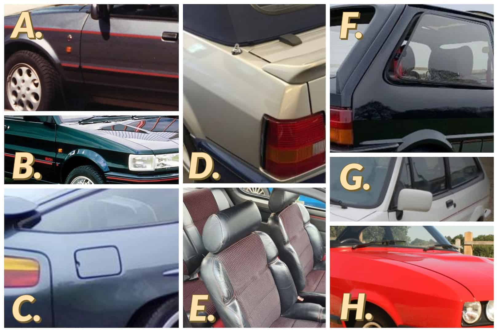 NUMBERED 80's classic cars